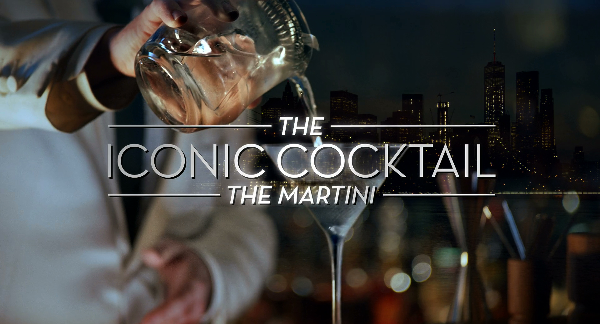 The Iconic Cocktail The Martini